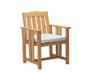 Unfinished teak chair